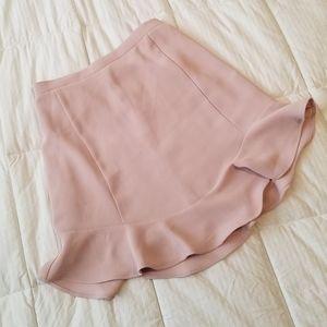 J. Crew Light Pink Ruffle Bottom Skirt